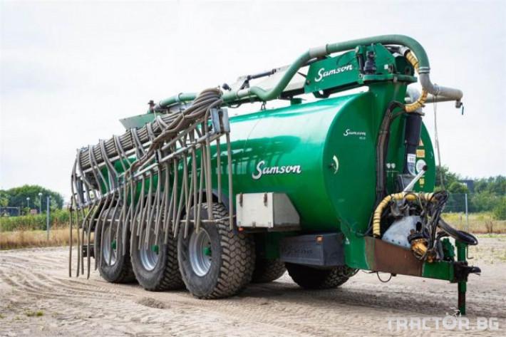 Ремаркета и цистерни Тороразпръскващо ремарке SAMSON 7 - Трактор БГ
